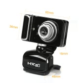 HXSJ USB2.0 16MP Pixel 180 Degrees Rotatable HD Webcam Digital Video Clip-on Web Camera with Microphone Mic 3 LED for Skype PC Laptop Desktop TV