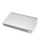 "Portable Super Slim Tool-Free 2.5"" SATA to USB External Hard Drive Enclosure Aluminum Hard-disk Case High Speed 5Gbps USB 3.0 SATA Hard Disk Drive Box with USB Cable Support 2TB for 2.5"" SATA HDD/SSD"
