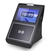Face & Password Attendance Machine Employee Checking-in Payroll Recorder TCP/IP 4.3 inch HVGA Screen DC 12V Facial Recognition Time Attendance Clock