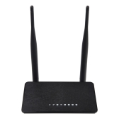 WD-608U 300Mbps Wireless WiFi Router Repeater Access Point Range Extender 802.11N Dual Antennas Black US Plug