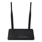 WD-608U 300MbpsワイヤレスWiFiルータリピータアクセスポイント範囲拡張802.11NデュアルアンテナブラックUSプラグ