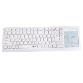 Ultra Slim Thin 2.4GHz Wireless Keyboard with Touchpad for Windows PC