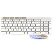 E-3LUE EKM825 2.4G Wireless Keyboard and Mouse Combo Splash-proof Design Chocolate Key Caps Adjustable DPI Mouse with Nano USB Receiver