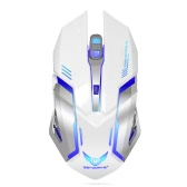 ZERODATE X70B 2.4GHz Wireless Gaming Mouse Computer Game Mouse Adjustable DPI Plug and Play 6 Buttons for Laptop Notebook PC Black with Silver