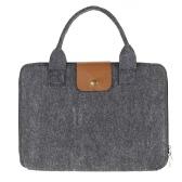 "13"" Portable Felt Carrying Notebook Sleeve Bag Handbag Case Cover with Handle & Zipper for MacBook/MacBook Air/Pro/Lenovo Laptop PC"