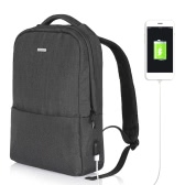 OSOCE Computer Backpack Laptop Notebook School Travel Bag with External USB Port Waterproof  Dark Grey