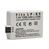 1200mAh 7.4V LP-E5 LPE5 Rechargeable Li-ion Battery Camera/Camcorder Battery for Canon SLRsT1i,XS,XSi,EOS 450D 500D 1000D