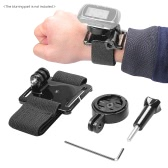 Andoer Wrist Hand Strap Band Belt Armband with Holder Adapter for Garmin GPS Edge Cycle 25 200 500 510 520 800 810 1000 Accessories for Gopro