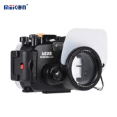 MEIKON SY-22 40m / 130ft Underwater Waterproof Camera Housing Black Waterproof Camera Case for Sony A6300