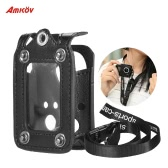 Amkov Multifunctional Clip-on Protecive Carrying Case Bag with Lanyard Lens Cap for Gopro 4/3+/3 or the Same Size Action Cam