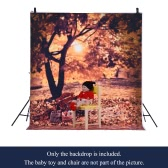 1.5 * 2m/4.9 * 6.5ft Photography Background Backdrop Computer Printed Autumn Pattern for Children Kid Baby Newborn Pet Photo Studio   Portrait Shooting