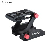 Andoer New Z-shaped Aluminum Alloy Foldable Camera Camcorder Desktop Holder Quick Release Plate Tilt Head for Nikon Canon Sony Pentax DSLR Camera Video Track Slider Tripod Film Making Macrophotography