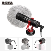 BOYA BY-MM1 Mini Cardioid Microphone Metal Electret Condensor Video Mic 3.5mm Plug for iPhone 6/ 6plus for Samsung Huawei Smartphone Tablet PC for Canon Nikon Sony DSLR Camera Camcorder