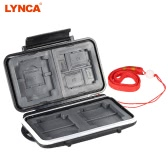 LYNCA Memory Card Storage Box Case Holder Protecter for 4CF+5SD+3XD+2TF+1MSPD ABS TPR Material Water-resistant Antiskid Camera Accessary Supply