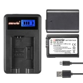 NP-FW50 2 Pack 7.4V 1500mAh Rechargeable Li-ion Battery with LCD USB Charger Kit for Sony Alpha a7 (II) a7R(II) a7S(II) A3000 A5000 A5100 A6000 NEX-3 NEX-3N NEX-5 NEX-5N NEX-5R NEX-5T NEX-6 NEX-7