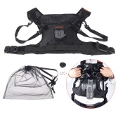 Commlite Rain-Proof Camera Carrying Vest Holder Quick Release for Outdoor Photographers Shooting for Canon Nikon Sony DSLR Cameras