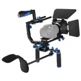 Andoer D102 Aluminum Alloy Camera Camcorder Video Cage Kit Film Making System with Cage Shoulder Pad 15mm Rod Matte Box Follow Focus Handle Grip for Canon Nikon DSLR