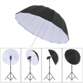 "41.3""/51.2"" Rubber White Black Reflective Umbrella 16 Fiberglass Rib for Studio Photography"