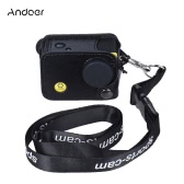 Andoer Clip-on Black Sports Camera Protecive Carrying Hanging Case Bag with Neck Lanyard & Lens Cap for Andoer Q3H / Q3 or the Same Size Action Cam