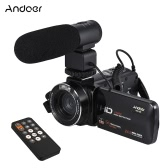 "Andoer HDV-Z20 1080P Full HD 24MP WiFi Digital Video Camera Camcorder with External Microphone 3.0"" Rotatable LCD Touchscreen Remote Control Support LED Lamp 16X Digital Zoom"
