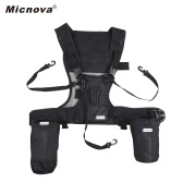 Micnova MQ-MSP07 Outdoor Photography Multi Camera Carrying Vest Carrier Chest Harness System with Lens Flashlight Bags Smartphone Pocket Tripod Holder Safety Straps for Canon Nikon Sony DSLR Camera