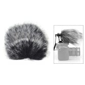 Small Size Outdoor Microphone Mic Furry Windscreen Windshield Cover Muff for SHENGGU SG-107/ SG109 or other 6 * 5cm / 2.4 * 2in (L * D) Compact Microphones
