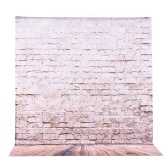 2 * 3m/6.6 * 9.8ft Large Photography Backdrop Background Brick Wooden Floor Pattern for Baby Newborn Children Teen Adult Photo Video Studio