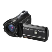 "Andoer HDV-D395 Digital Video Camera DV WiFi 1080P 30fps FHD 24M 18X Zoom Camcorder With Remote Control/ IR Infrared Night Vision + LED Light/ 3"" Touch  Screen Support Face Detect/ Anti-Shake"