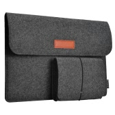 "dodocool 13.3-Inch Felt Sleeve Cover Carrying Case Protective Bag 4 Compartments with Mouse Pouch for Apple 13"" MacBook Air / 13"" MacBook Pro / 13"" MacBook Pro with Retina display and Most Popular 13-13.3 Inch Laptop and More Dark Gray"