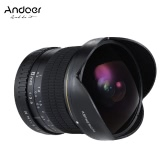 Andoer 8mm F/3.5 170° Ultra Wide HD Fisheye Aspherical Circular Lens for Canon EOS DSLR Cameras--Full Frame Compatible