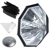Godox S7 48cm Portable Foldable Octagon Photography Softbox Umbrella Lighting Kit for WITSTRO AD360 AD180 Series Speedlight Flash Strobe