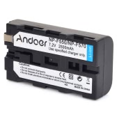 Andoer Rechargeable Replacement Camera Camcorder Li-ion Lithium Battery 2500mAh for Sony NP-F550 NPF570 NP-F330 NP-F530 NP-F730 NP-F750 Hi-8