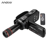 Andoer HDV-Z8 1080P Full HD Digital Video Camera Camcorder 16× Digital Zoom with Digital Rotation LCD Touch Screen Max 24 Mega Pixels Support Face Detection with 12× Telephoto Lens