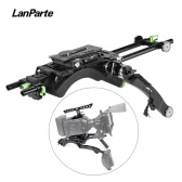 Lanparte Pro Shoulder Mount Rig Handheld Movie Film Support Kit (Shoulder Pad + Extension Arm + Handgrip + Top Handle with Mounting Plate + 2 * 15mm Rods & Lock) for Blackmagic Design BMD URSA Mini Camcorder Support for LANC Connection
