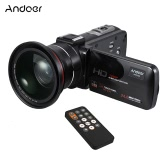 "Andoer HDV-Z20 1080P Full HD 24MP WiFi Digital Video Camera Camcorder with 0.39X Wide Angle + Macro Lens 3.0"" Rotatable LCD Touchscreen Remote Control Support 16X Digital Zoom LED Lamp"