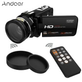"Andoer HDV-Z20 3.0"" Portable 1080P Full HD 37mm 0.45× Wide Angle Lens Max 24 Mega Pixels 16× Digital Zoom Camcorder with Remote Control"