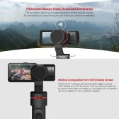 "Feiyu SUMMON+ Stabilized Handheld Action Camera Integrated with 3-Axis Brushless Gimbal 4K 25FPS 16 Mega Pixels 2.0"" HD Display with LED Fill Light Anti-shake One Tap for Panoramic Shooting"