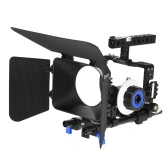 Andoer Professional Video Cage Rig Kit Film Making System w/ 15mm Rod Follow Focus FF Matte Box for Sony A6000 A6300 A6500 ILDC Mirrorless Camera Camcorder