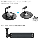 """SHOOT 6"""" Sport Camera Diving Fisheye Dome Port Waterproof Housing for GoPro Hero 5 Action Cameras Underwater Photography with Floaty Grip"""