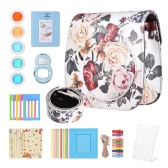 8 in 1 Accessories Kit for Fujifilm Instax Mini 8/8+/8s/9 Include Camera Case/Strap/Selfie Mirror/Filter/Album/Photo Frame/Photo Sticker