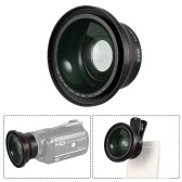 HD Optical Camera Lens 0.39X Wide Angle + Macro Lens 37mm Camera Thread for Ordro Andoer Z20 D395 Z8 plus Z80 F5 V7 Z18 DV   Camcorder Video Recording for iPhone 7 7plus 6 6 plus for Samsung Huawei Smartphone Close-up Photography