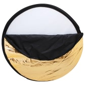 "Andoer 24"" 60cm Disc 5 in 1 (Gold, Silver, White, Black, Translucent) Multi Portable Collapsible Photography Studio Photo Light Reflector"