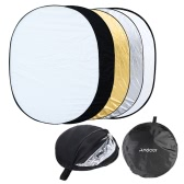 "Andoer 35"" * 47"" / 90 * 120cm Oval 5 in 1 (Gold, Silver, White, Black, Translucent) Multi Portable Collapsible Studio Photo Photography Light Reflector"