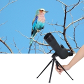 Outdoor 20-60X Zoom Spotting Scope Green Film Coated Optical Lens with Tripod Carrying Bag for Birdwatching Hunting Camping Moutainteering Naturalist