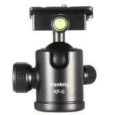Manbily KF-0 Camera Ball Head Tripod Head Panoramic Head Sliding Rail Head with 2 Built-in Spirit Levels Aluminum Alloy Max. Load Capacity 15Kg