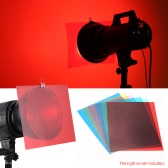 6pcs 25 * 20cm Transparent Lighting Color Correction Gel Sheets Filter Set for Flash Light Speedlite