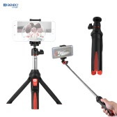 Benro MK10 Handheld Extendable Mini Tripod Selfie Stick with Bluetooth Remote Control Shutter for IOS iPhone 5s/6s/6s Plus & Android Smartphone Cellphone for Gopro