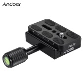 "Andoer Universal Quick Release Plate with 1/4"" Screw for Tripod Ball Head for Canon Nikon Sony Cameras"