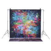 1.5 * 2.1m/5 * 7ft Cotton Photography Backdrop Background Wrinkle-resistant Washable Old Fashion Wall Pattern for Baby Newborn Children Video Studio
