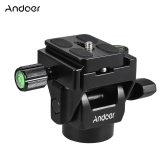 Andoer M-12 Monopod Tilt Head Panoramic Head Telephoto Bird Watching with 2pcs Quick Release Plate
